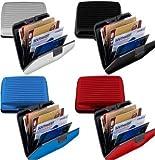 Portefeuille Porte Cartes Etui Aluminium Rigide Wallet Tendance 4 Coloris