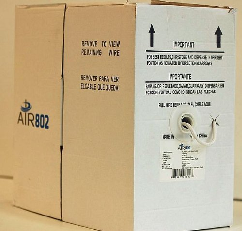 Air802 Cat. 6 Cmr White Jacket Cable, 1000 Feet