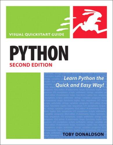 Python: Visual QuickStart Guide (2nd Edition)