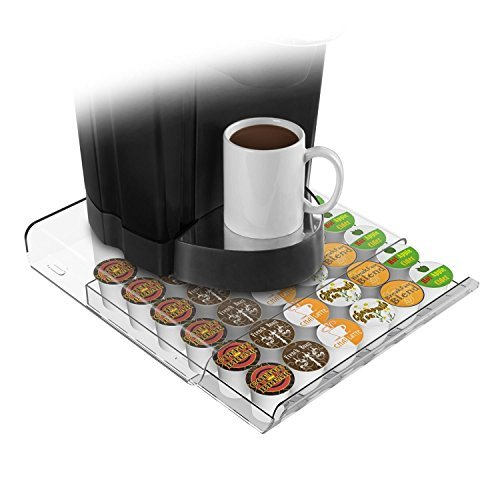 Marketing Holders Mind Reader Coffee Pod Storage Drawer for 36 Keurig K-Cup, 42 CBTL/Verismo Coffee Pods (Clear) (Verismo Pod Storage compare prices)
