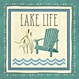 Lake Retreat IV by Charron, Veronique - Fine Art Print on PAPER : 6 x 6 Inches