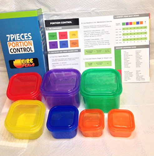 Fire Deals 7 Piece Portion Control Containers Kit For Weight Loss Eat ...