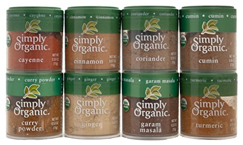 Indian Spices Set From Simply Organic