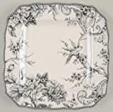 222 Fifth Adelaide Gray & White Dinner Plate, Set of 4, Square