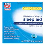 Rite Aid Maximum Strength Sleep Aid, 64 Softgels