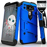 LG G5 Case, Zizo® Bolt Cover with FREE [.33mm 9H Tempered Glass Screen Protector] Included [Military Grade] Armor Case Kickstand Holster Belt Clip