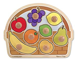 Melissa & Doug Fruit Basket Large Jumbo Knob Puzzle
