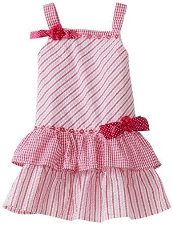 So La Vita Little Girls' Toddler Drop Waist Dress, Pink, 3T