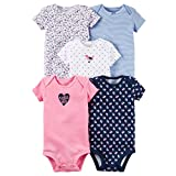 Carters Baby Girls 5 Pack Bodysuits (Baby) - Wild About Daddy-24M
