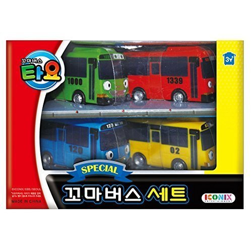 This is on my Wish List: Little Bus TAYO Special Mini 4 Pcs Toy Set (Tayo + Rogi + Gani + Rani): Toys & Games