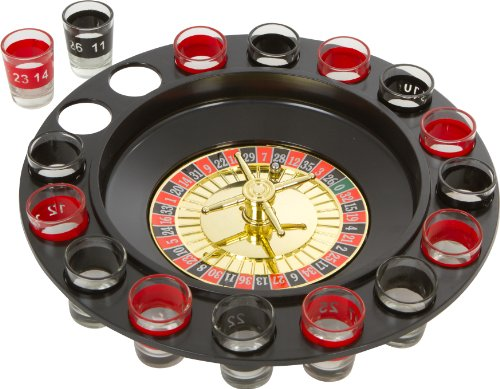 Cheap EZ Drinker Shot Spinning Roulette Game Set (16-Piece)