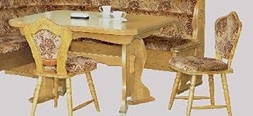 9-9-8-2315: schöne Essgruppe, Kucheneßgruppe, ausziehbarer Tisch, 2 Stuhle - Eiche natur lackiert