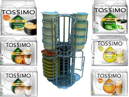 Kaffee-Kapselhalter für Tassimo 64 NEU jetzt auch 2 Schächte für die grossen Milchkapseln ideal für Tassimo Jacobs Krönung Latte Macchiato , Tassimo Twinings Chai Latte ,Tassimo Jacobs Krönung Verwöhnkanne
