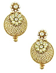 The Art Jewellery Exclusive Vilandi Kundan Chaand Balis Dangle&Drop Earrings For Women