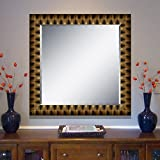 Elegant Arts & Frames Black And Gold Wall Decorative Wood Mirror 30 Inch X 30 Inch