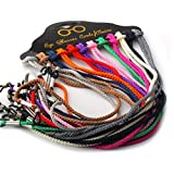 12 Pcs Set Colorful Nylon Braided Eyeglass Cord Reading Sunglass Neck Strap Eyewear Retainer Rope Holder
