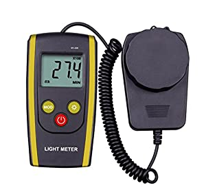 upHere Digital Handheld Photography Light Meter with - Measures Lux and Lumens (200,000 LUX MAX Range)