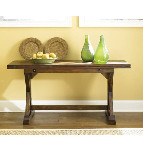 Cheap Flip Top Console Table by Hammary – Rustic Finish (090-276) (090-276)