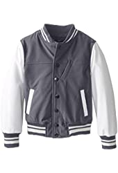 Urban Republic Big Boys' Soft Shell Varsity Jacket