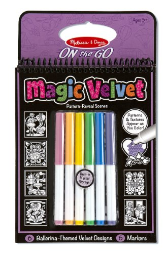 Melissa & Doug On the Go Magic Velvet Pattern-Reveal Activity Kit - Ballerina (Velvet Coloring Pictures compare prices)