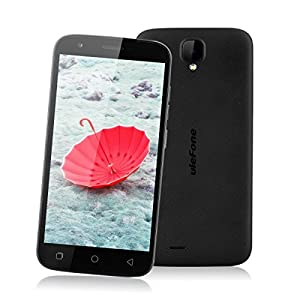 Ulefone U007 pro 5.0 inch Android 6.0 MT6735 1.3GHz Quad Core Cellphone 4G Dual SIM Mobile Phone 1G RAM + 8G ROM HD 2.0 MP Front Camera + 8.0 MP Back Camera Smartphone (Black)