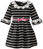 Speechless Little Girls Peter Pan Collar Eyelash Dress