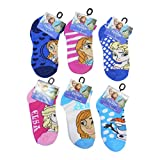 Disney Frozen Girl's Ankle No Show Socks 6 Pack Size 4-6