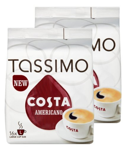 TASSIMO Costa at Home Americano, Large Cup Size - (2 x 16 Drinks)