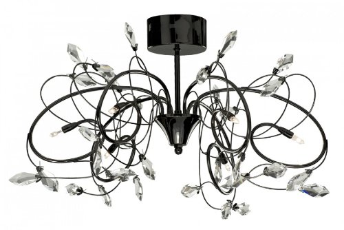 Taurus Semi Flush Mount in Black Chrome