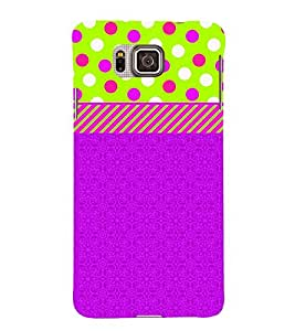 Dotted Green Blue Girl 3D Hard Polycarbonate Designer Back Case Cover for Samsung Galaxy Alpha G850