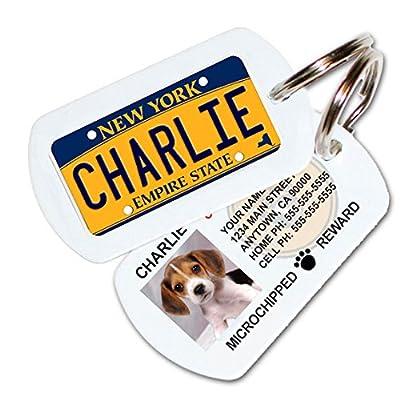 Custom Pet ID Tag PL8S 4 PETS(®) License Plate Tag