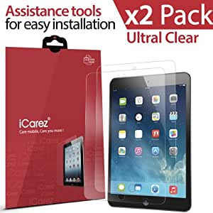 iCarez HD Ultra Clear Screen Protector for Apple iPad Air /iPad Air 2 (2-Pack) - Retail Packaging