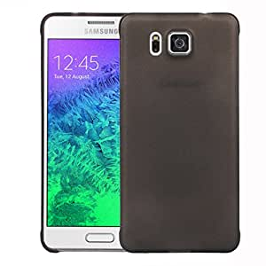 Galaxy Alpha Case, Defender Slim Matte Shell Case for Samsung Galaxy Alpha G850F (Black)