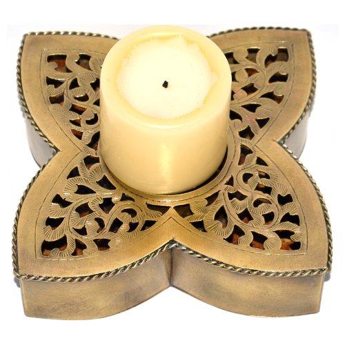 Brass Filigree Candle Holder