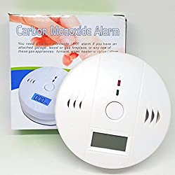 Vaporcombo 100% Safe and Secure 85 DB Carbon Monoxide Detector and Alarm
