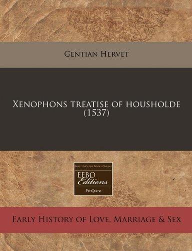 Xenophons treatise of housholde (1537)