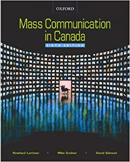 Mass communication in canada 7th ed