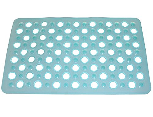 WARRAH Non-slip Bathtub Mat kids Shower Mats With Suction Cup Anti-slip Natural Rubber Mildew Resistant Baby Bath Mat Extra Long,24