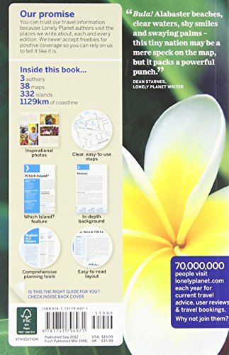 LONELY PLANET - Fiji - 2009 8th Edition PB VG COND Travel Reference