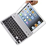 BATTOP IPad Mini Keyboard - Bluetooth Keyboard With Holder for IPad Mini 3 / IPad Mini 2 /IPad Mini(Silver)