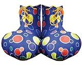 Dress Up America - Cubrezapatos de payaso para adultos, color azul (624A-B)