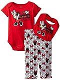 Disney Baby-Girls Newborn Minnie Mouse 3 Piece Bow Print Bib Set