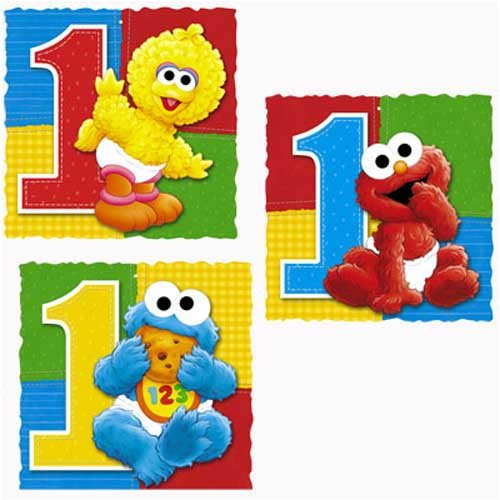 Sesame Street First Birthday Party Supplies | Birthday Wikii