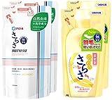 【まとめ買い】 さらさ  洗濯洗剤 液体  詰替用 750g ×2個 + さらさ 柔軟剤 詰替用 480ml ×2個