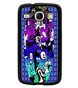 PrintDhaba Graffiti D-3950 Back Case Cover for SAMSUNG GALAXY CORE i8262 (Multi-Coloured)