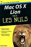 echange, troc Bob LeVitus - Mac OS X Lion pour les Nuls