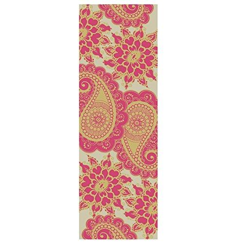 """Yogamatte """"Ravana"""" Die ideale Yoga- und Gymnastikmatte für Yoga-Einsteiger. Maße: 183 x 61 x 0,4cm / Paisley rosa"""