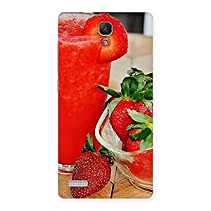 Delighted Straberry Juice Multicolor Back Case Cover for Redmi Note