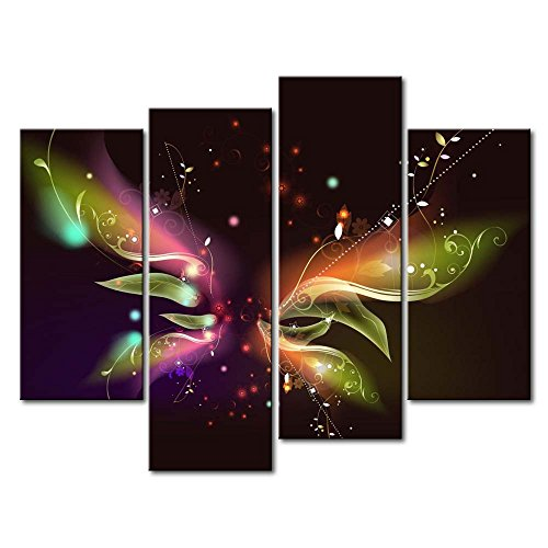 4 Panel Wall Art Painting Butterfly Pictures Prints On Canvas Abstract The Picture Decor Oil For Home Modern Decoration Print For Girls Bedroom