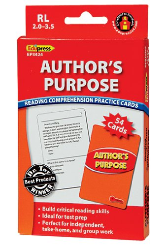 Author's Purpose Practice Cards Red Level